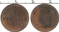 Изображение Монеты Саксен-Майнинген 1 пфенниг 1863 Медь VF