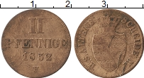 Продать Монеты Саксен-Альтенбург 2 пфеннига 1856 Медь