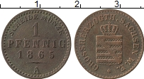 Продать Монеты Саксен-Веймар-Эйзенах 2 пфеннига 1865 Медь