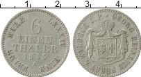Изображение Монеты Вальдек-Пирмонт 1/6 талера 1843 Серебро XF