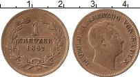 Продать Монеты Баден 1 крейцер 1851 Медь