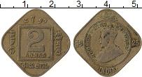 Изображение Монеты Индия 2 анны 1923 Медно-никель XF- Георг V