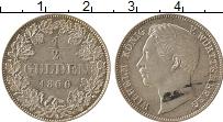 Изображение Монеты Германия Вюртенберг 1/2 гульдена 1860 Серебро UNC-
