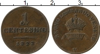 Продать Монеты Венеция 1 чентезимо 1822 Медь