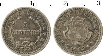 Изображение Монеты Северная Америка Коста-Рика 5 сентим 1905 Серебро VF