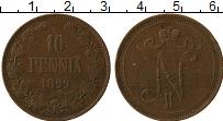 Изображение Монеты Финляндия 10 пенни 1899 Медь XF