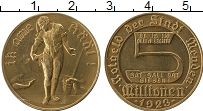 Изображение Монеты Германия : Нотгельды 5000000 марок 1923 Латунь UNC- Менден