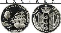 Изображение Монеты Ниуэ 5 долларов 1996 Серебро Proof Путешествие Кука