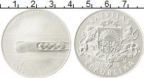 Изображение Монеты Латвия 1 лат 2005 Серебро UNC