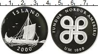 Изображение Монеты Исландия Медаль 2000 Серебро Proof-