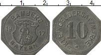 Изображение Монеты Германия : Нотгельды 10 пфеннигов 1917 Цинк XF Бамберг