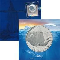 Изображение Подарочные монеты Канада Айсберг и Кит 2013 Серебро Proof Представляем Вашем в