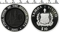 Изображение Монеты Самоа 10 долларов 2002 Серебро Proof Введение Евро, После