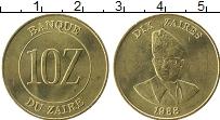 Изображение Монеты Заир 10 заир 1988 Латунь XF