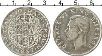 Изображение Монеты Новая Зеландия 1/2 кроны 1937 Серебро XF Георг VI