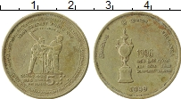 Изображение Монеты Шри-Ланка 5 рупий 1999 Латунь VF Чемпионат мира по кр