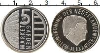 Изображение Мелочь Нидерланды 5 евро 2019 Посеребрение UNC 75 лет годовщине опе