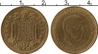 Изображение Монеты Испания 1 песета 1966 Латунь XF Франсиско Франко