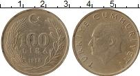 Изображение Монеты Турция 100 лир 1988 Медно-никель XF