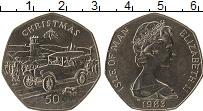 Изображение Монеты Остров Мэн 50 пенсов 1983 Медно-никель UNC Рождество
