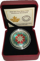 Изображение Подарочные монеты Канада 25 долларов 2014 Серебро Proof Рождество. Серебро 9