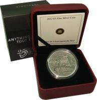 Изображение Подарочные монеты Канада 5 долларов 2012 Серебро Proof `25 лет окончания ми