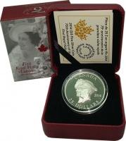 Изображение Подарочные монеты Канада 25 долларов 2014 Серебро Proof 75 лет первого Корол