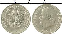 Изображение Мелочь Гаити 5 центов 1975 Медно-никель UNC-