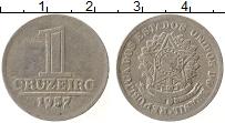 Изображение Монеты Бразилия 1 крузейро 1957 Алюминий XF