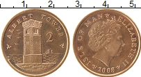 Изображение Монеты Остров Мэн 2 пенса 2008 Бронза UNC-