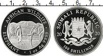 Изображение Монеты Сомали 100 шиллингов 2000 Серебро Proof