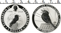 Изображение Мелочь Австралия 1 доллар 2020 Серебро Proof