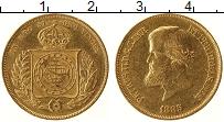Изображение Монеты Бразилия 10000 рейс 1885 Золото VF+