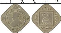 Изображение Монеты Индия 2 анны 1923 Медно-никель VF Георг V