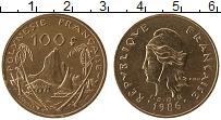 Изображение Монеты Полинезия 100 франков 1986 Латунь UNC