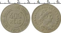 Изображение Монеты Бразилия 400 рейс 1920 Медно-никель XF-