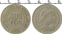 Изображение Монеты Бразилия 400 рейс 1921 Медно-никель XF