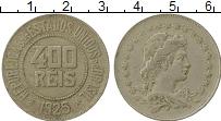 Изображение Монеты Бразилия 400 рейс 1925 Медно-никель XF-