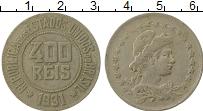 Изображение Монеты Бразилия 400 рейс 1931 Медно-никель XF-