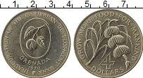 Изображение Монеты Северная Америка Гренада 4 доллара 1970 Медно-никель UNC-