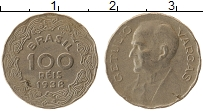 Изображение Монеты Бразилия 100 рейс 1938 Медно-никель XF