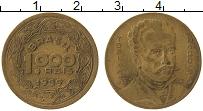 Изображение Монеты Бразилия 1000 рейс 1939 Латунь XF- Тобиас Баррето