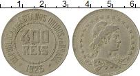 Изображение Монеты Бразилия 400 рейс 1923 Медно-никель XF-