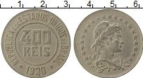 Изображение Монеты Бразилия 400 рейс 1930 Медно-никель XF-
