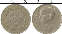 Изображение Монеты Бразилия 400 рейс 1940 Медно-никель XF