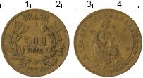 Изображение Монеты Бразилия 500 рейс 1924 Латунь XF-
