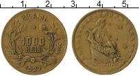 Изображение Монеты Бразилия 1000 рейс 1927 Латунь XF-