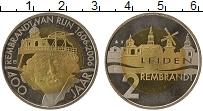 Изображение Монеты Нидерланды 2 евро 2006 Биметалл XF 400 - летие  Рембран