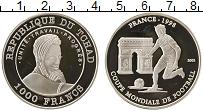 Продать Монеты Чад 1000 франков 2002 Серебро