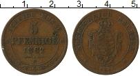 Изображение Монеты Саксония 5 пфеннигов 1862 Медь VF